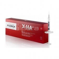 Filorga X-HA3 dermal filler contains stabilized hyaluronic acid.