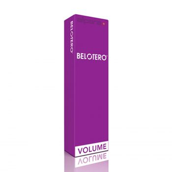 Belotero Volume is a dermal filler that contains hyaluronic acid.