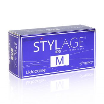 Stylage M Lidocaine is a cross-linked hyaluronic acid based gel.