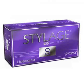 Stylage S Lidocaine is a cross-linked hyaluronic acid based gel.