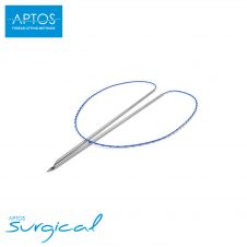 Aptos Thread 2G Soft are absorbable threads with straight, hollow needles.