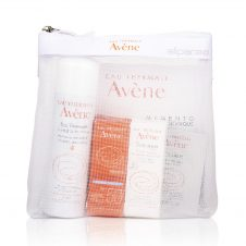 EAU Thermale Avene Kit consist of Avène Thermal Spring Water, Avene Ultra-Light Hydrating Sunscreen Lotion SPF 50+ and Avene Tolérance Extreme Cream.