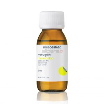 Mesopeel Melanostop is a powerful antioxidant with depigmenting and sebum-regulating properties.
