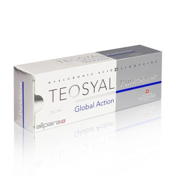 Teosyal PureSense Global Action is ideal for correcting and moderate deep wrinkles, nasolabial folds, glabellar lines and periorbital lines.
