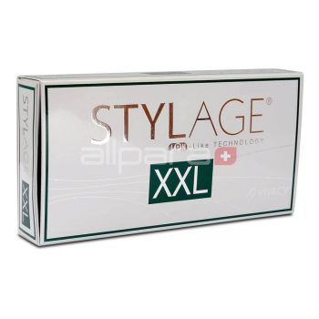 Stylage XXL 1 x 2 2 ml is a dermal filler designed specifically for restoring large amounts of volume for the face.